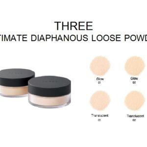 แบ่งขายแป้งฝุ่นโปร่งแสงเนื้อบางเบา THREE ULTIMATE DIAPHANOUS LOOSE POWDER